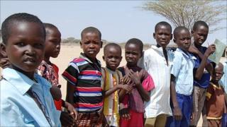Children at Lokichare Primary School near Lowdar town