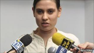 Anat Kamm in Tel Aviv district court. 6 Feb 2011
