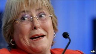 Former Chilean president Michelle Bachelet, 28 January 2011