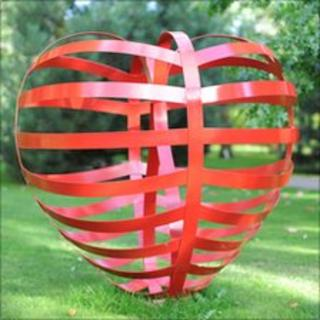 Stranded Heart sculpture