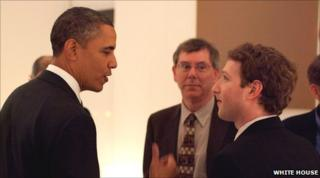 Obama and Zuckerberg