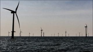 An offshore windfarm