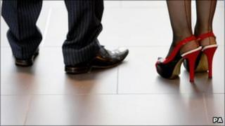 Shoes of a man and woman
