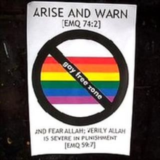 """gay-free zone"" sticker"