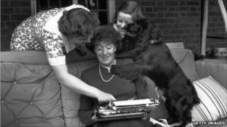Enid Blyton with her daughters Gillian (left) and Imogen