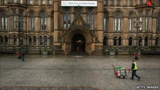 Street cleaner in Manchester