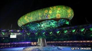 Commonwealth Games opening ceremony in October 2010