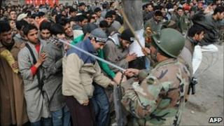 Police recruitment rally in Srinagar (file photo)