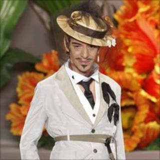 Galliano at his Paris show for Dior in July 2010