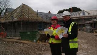 Jo Boyd and Jack Honeybill at Les Bourgs Hospice