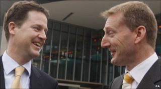 Nick Clegg and Tavish Scott