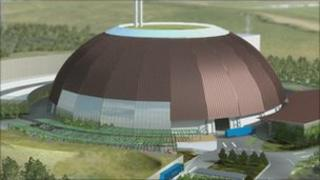 Artist's impression of Viridor's proposed waste plant
