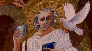 St David mosaic at Westminster Cathedral