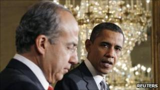 US President Barack Obama and Mexican President Felipe Calderon