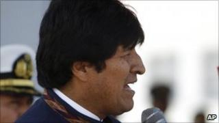 Evo Morales on 3 March 2011