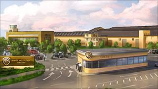 An impression of the new studios at Leavesden