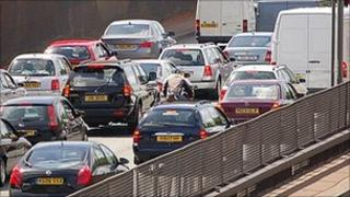 Traffic jam in London - file pic