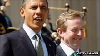 Barack Obama and Enda Kenny