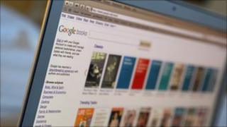 Computer screen displaying Google eBooks