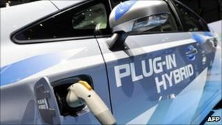 A Toyota Prius plug-in Hybrid car