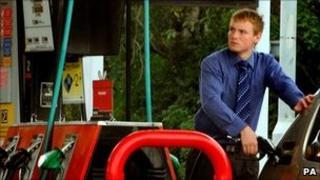 Man filling petrol