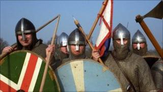 Actors recreate the Battle of Hastings