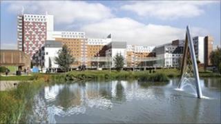 Aston University campus in Birmingham