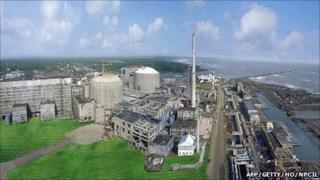 Pressurised Heavy Water Reactors (PHWR) Tarapur 3 and 4 at the Tarapur Atomic Power Station