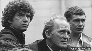 Martin Shaw, Gordon Jackson and Lewis Collins in The Professionals