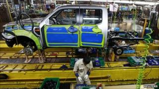 Ford truck manufacturing plant located in Rayong province in Thailand