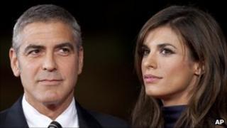 George Clooney and girlfriend Elisabetta Canalis
