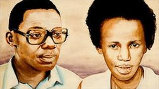 Peter and Dancilla Gisimba, as drawn by one of the orphans