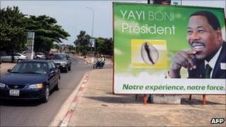 Election poster of Thomas Boni Yayi