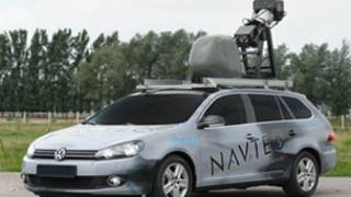 A Microsoft mapping car