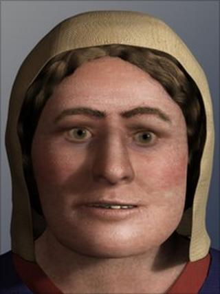 Facial reconstruction of Viking skull
