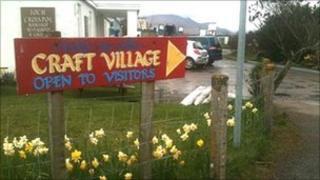 Balnakeil Craft Village sign