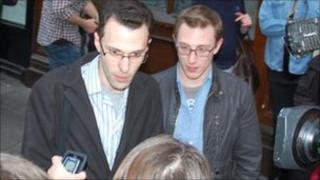 Jonathan Williams (left) and James Bull (right)