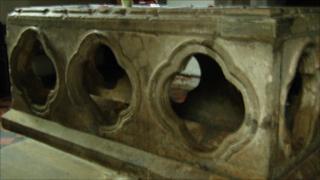 Grave of St Bertram in Ilam
