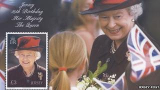 Stamp sheet to celebrate the Queen's birthday
