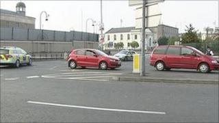 The alert is causing delays for traffic in Newry