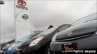 Toyota cars on display