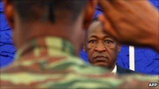 President Blaise Compaore. 1 April 2011