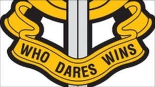 Detail of SAS badge