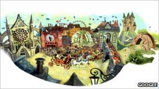 Royal wedding Google doodle
