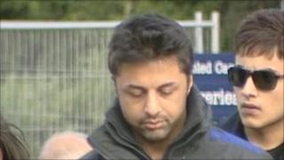 Shrien Dewani arriving at Belmarsh Magistrates' Court on 3 May 2011
