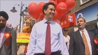 Ed Miliband during a walkabout in Gravesend