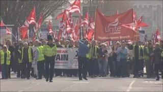 Southampton council staff protest