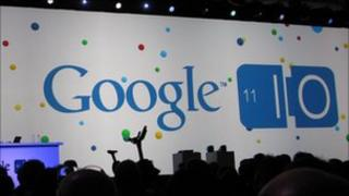 Google logo at the IO conference