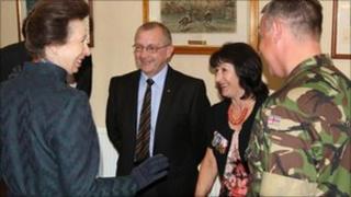 Princess Royal presents Elizabeth Cross