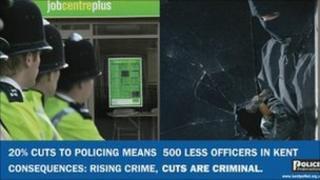 Kent police cuts advert